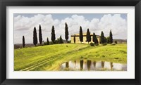Framed Tuscan Hillside