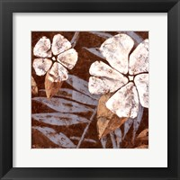 Flowers on Chocolate II Framed Print