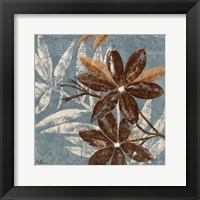 Flowers on Denim IV Framed Print