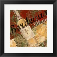 Bordeaux Blanc Framed Print