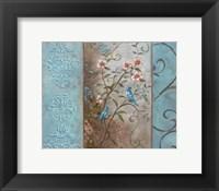 Framed Elegance en Soie Bleue I