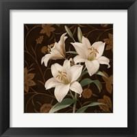 Flores Elegante IV Framed Print