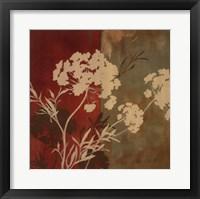 Among the Flowers I Framed Print
