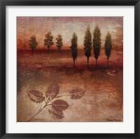 Warm Textural Landscape II Framed Print