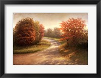 Autumn Lane I Framed Print