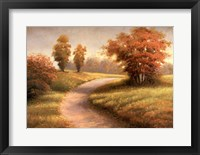 Autumn Lane II Framed Print