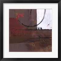 White Resonance I Framed Print