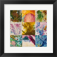 Framed Abstract 6 Panel