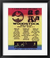 Framed Woodstock Line-Up