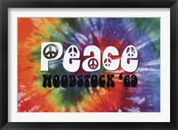 Framed Woodstock - Peace