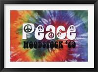Framed Woodstock - Peace
