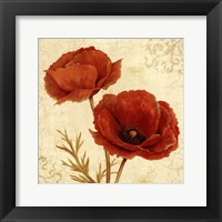Framed Poppy Bouquet I