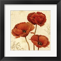 Framed Poppy Bouquet II