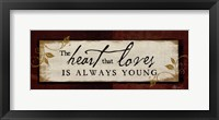The Heart That Loves Framed Print