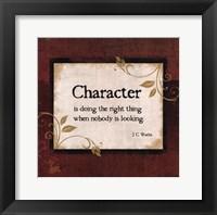 Character Framed Print