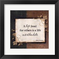 A Life Lived Framed Print