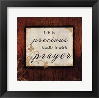 Life Is Precious - square Framed Print