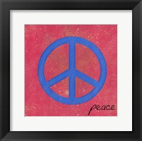 Framed Blue Peace