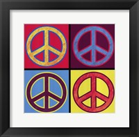 Peace In All Colors Framed Print