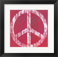 Pink Peace Framed Print