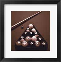 Framed Pool Table I - Sepia