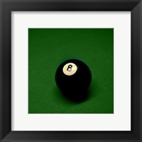 Framed 8 Ball on Green