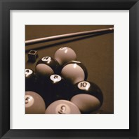 Framed Pool Table II - Sepia
