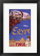 Egypt - Fly TWA Framed Print