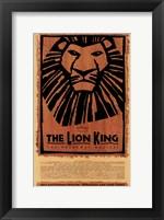Framed Lion King (Broadway)