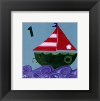 One Ship Framed Print