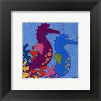 Sally Seahorse Framed Print