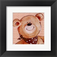 Spotty Scarf Ted Framed Print