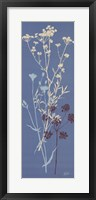 Framed Teal Meadow Flower