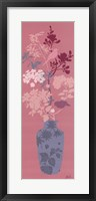Aqua Blossom Vase Framed Print