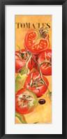 Framed Le Jardin des tomates