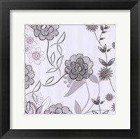Framed White Lace Floral