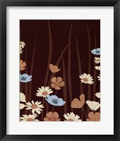 Chocolate Daisy Meadow Framed Print