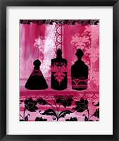 Framed Perfume Bottle Sil.