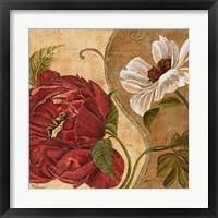 Framed Floral Aura II