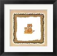 Lion Cubs Framed Print