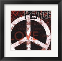 Framed Peace - Red Black and White