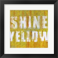 Shine Yellow Framed Print