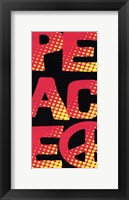 Peace - Retro Framed Print