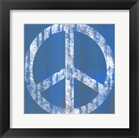 Framed Blue Peace