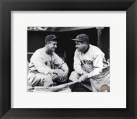 Framed Lou Gehrig & Babe Ruth Posed