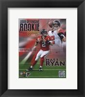 Framed Matt Ryan 2008 Rookie of the Year Portrait Plus