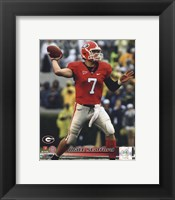 Framed Matt Stafford Georgia Bulldogs 2008 Action