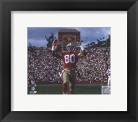 Framed Jerry Rice Touchdown Celebration
