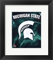 Framed Michigan State University Spartans Logo