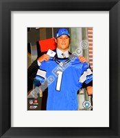 Framed Matt Stafford 2009 Draft Day